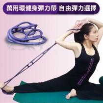 Goodly顧得力 萬用環健身彈力帶 淺紫色/彈力繩/拉力帶 (革命性設計 自由彈力選擇)