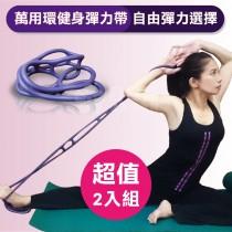 【超值2入組】Goodly顧得力 萬用環健身彈力帶 淺紫色/彈力繩/拉力帶 (革命性設計 自由彈力選擇)